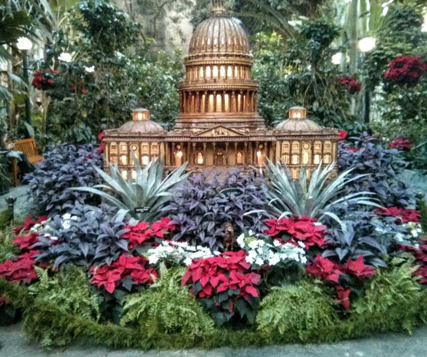 A visit to the u s botanic garden garden destinations magazine for Botanical gardens dc christmas