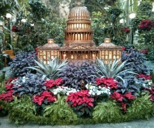 Holiday display at US Botanic Washington DC