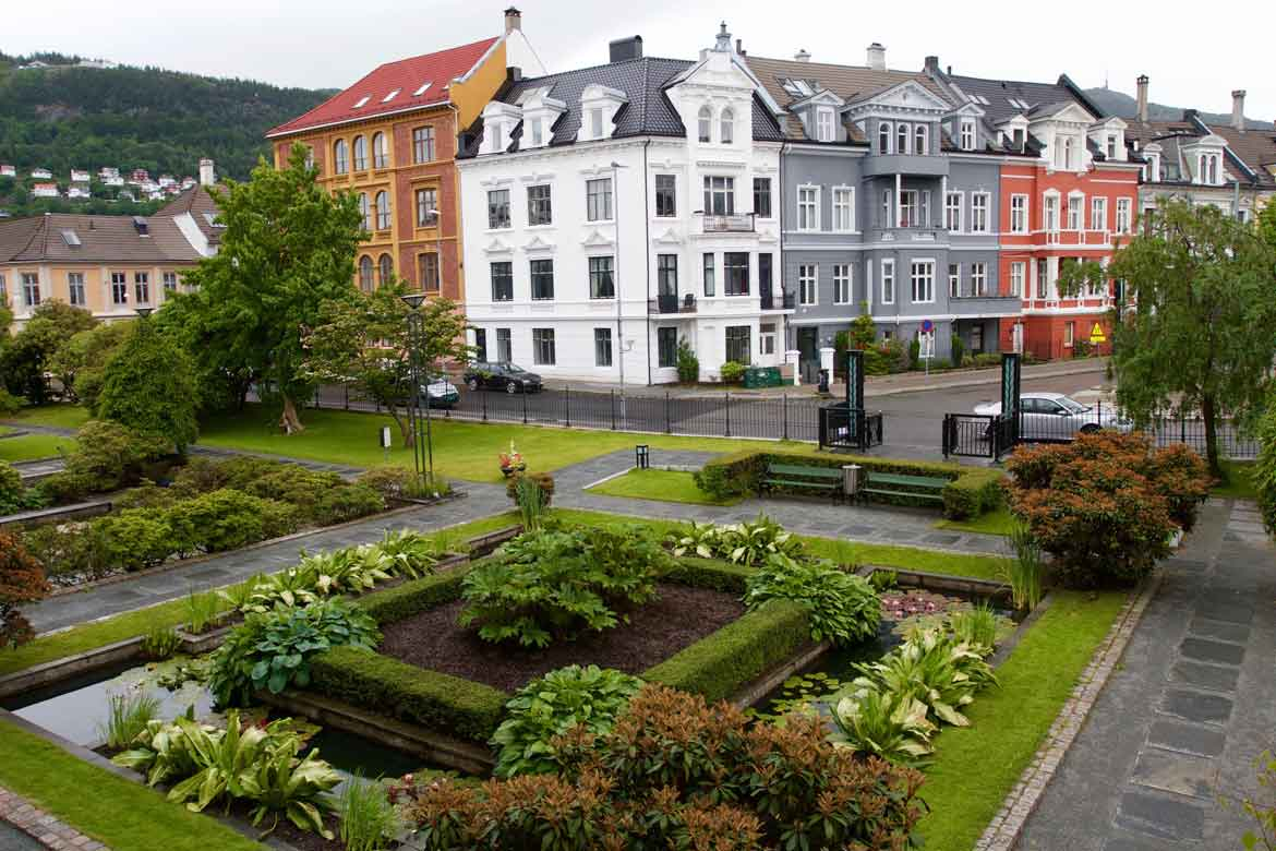 Museum Garden in Bergen, Norway