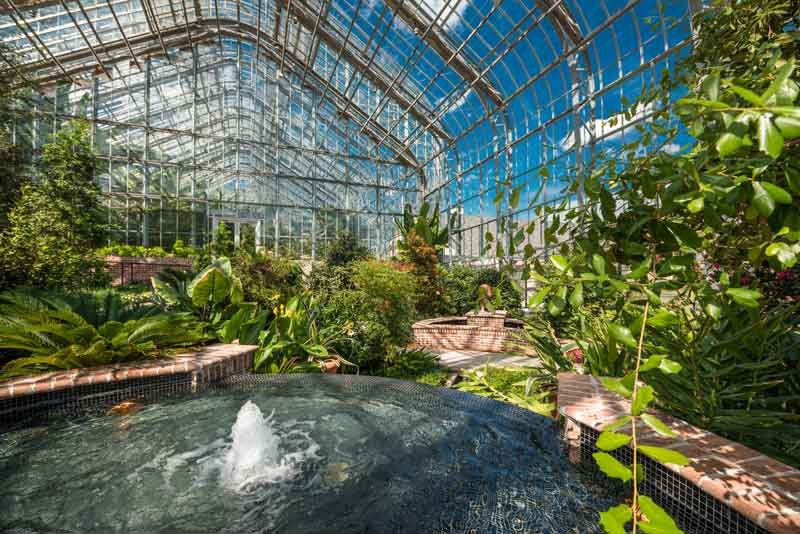 Marjorie K. Daugherty Conservatory at Lauritzen Gardens