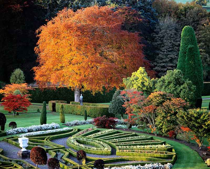 Drummond Castle Gardens topiary Scotland