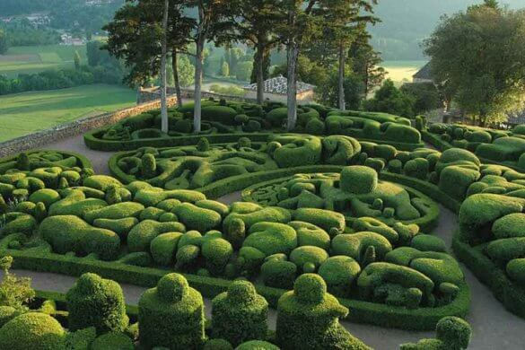 The Marqueyssac topiary garden, France