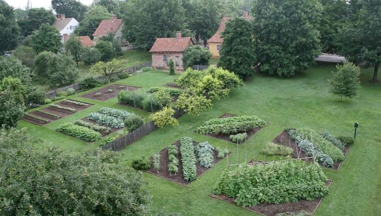 Miksch and Triebel gardens in Old Salem