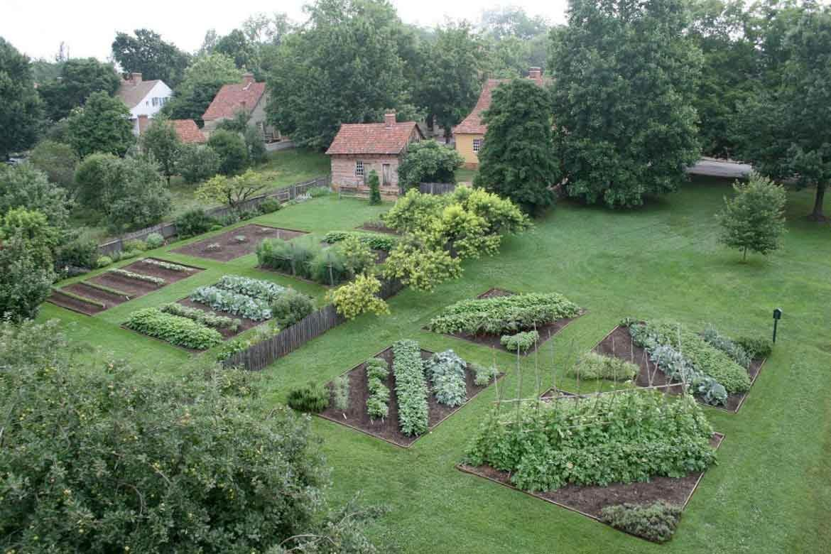 Miksch and Triebel gardens in Old Salem