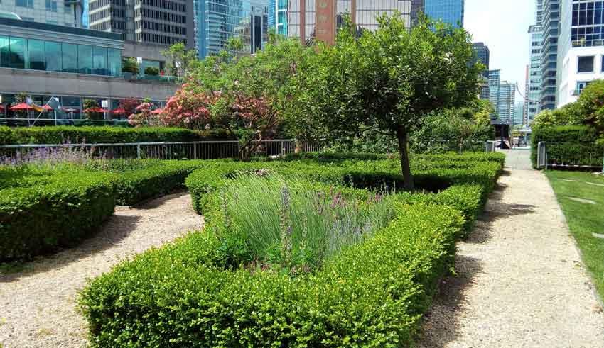 Fairmont Waterfront Vancouver garden