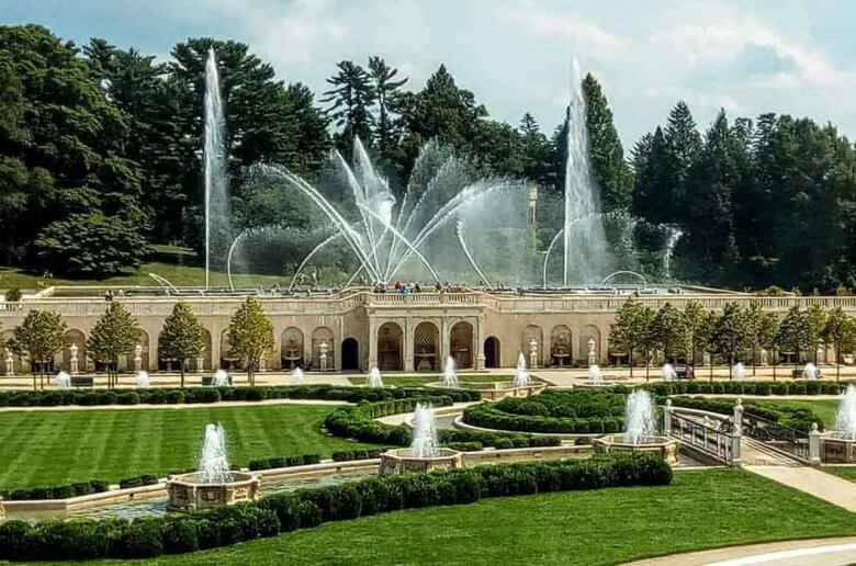 Longwood Gardens main fountain