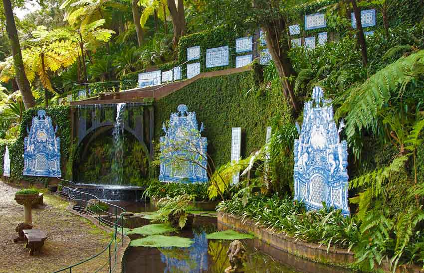 Portugal's tiles at the Monte Palace Tropical Gardens